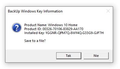 Script - Podgląd klucza aktywacyjnego Windows