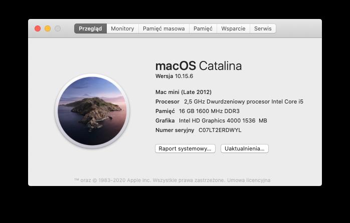 Mac Mini Late 2012 - macOS Catalina 10.15