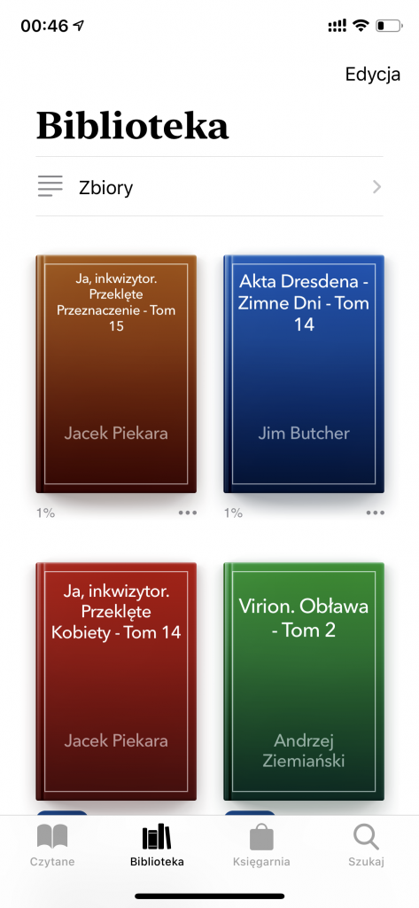 iOS - aplikacja Książki - Brak okładek
