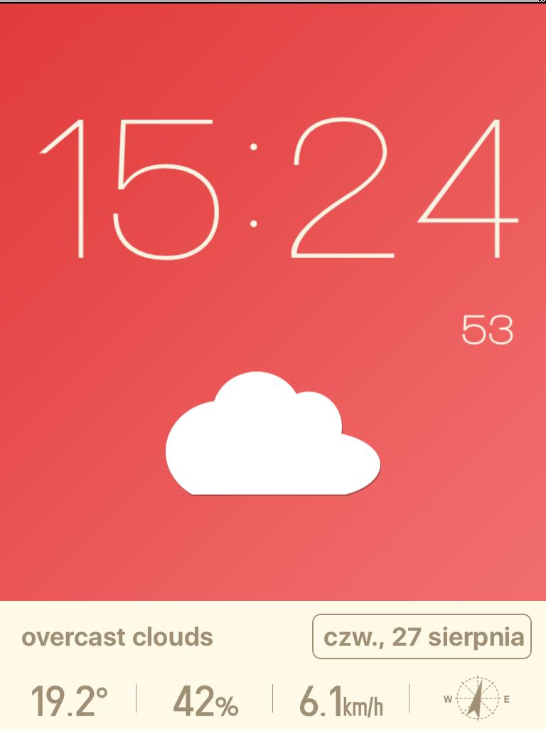Aplikacja Red Clock 4.6.2 - iOS