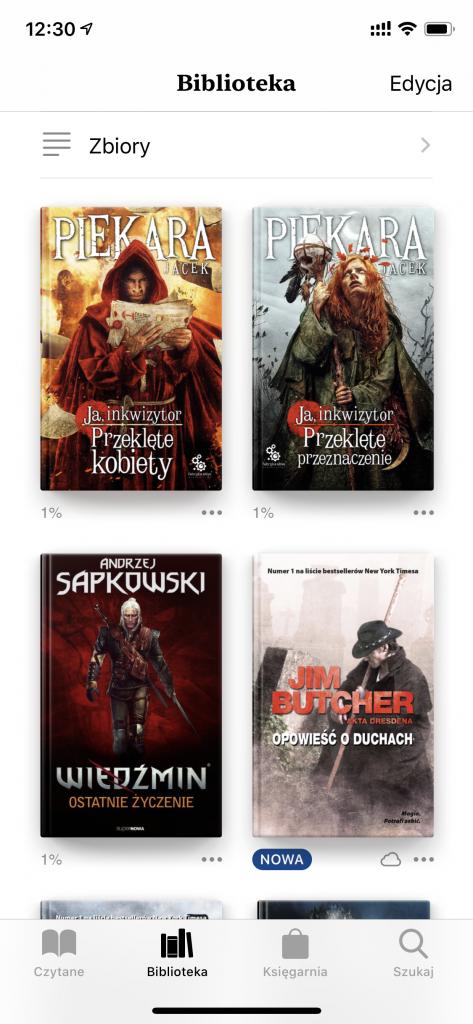 iOS - aplikacja Książki - Wszystkie okładki wyświetlone poprawnie