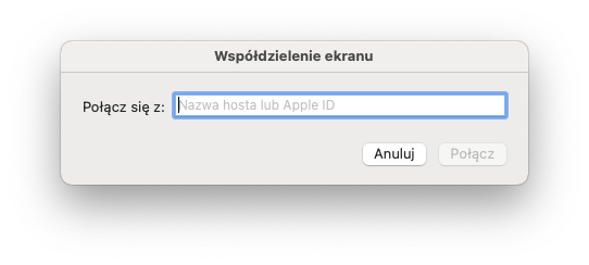 Aplikacja Współdzielenie Ekranu - macOS Big Sur